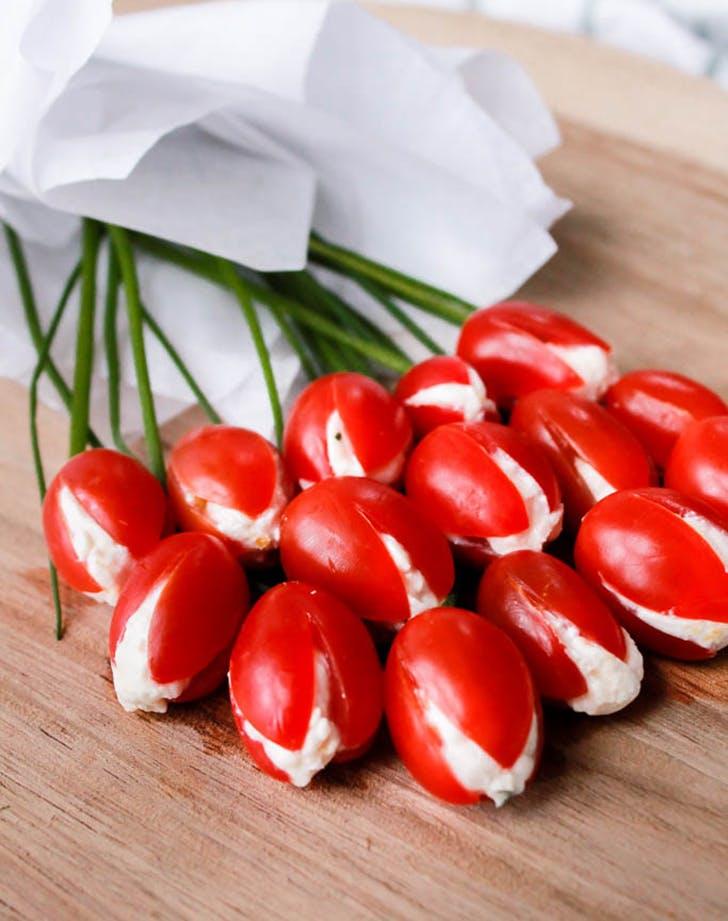 cherry tomato tulip bouquet recipe