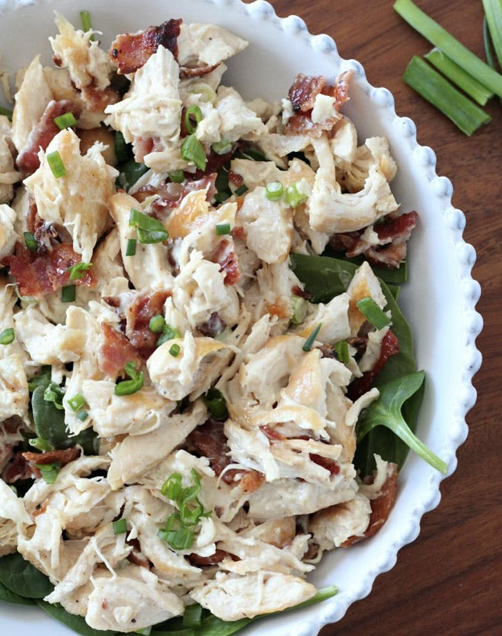 chicken salad with bacon and scallions recipe