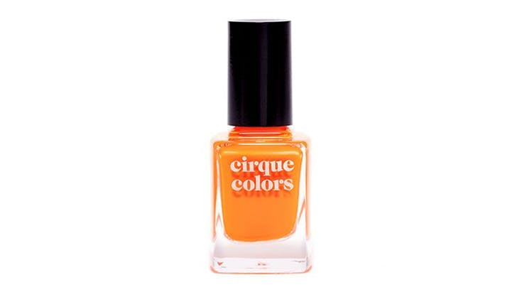 cirque colors bright orange nail polish