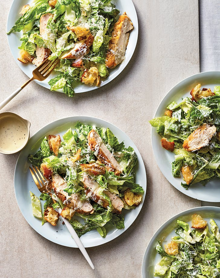Family Style Chicken Caesar Salad