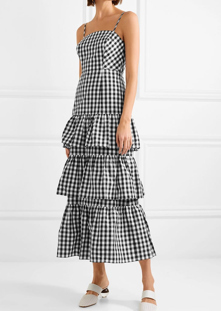 gingham jcrew dress