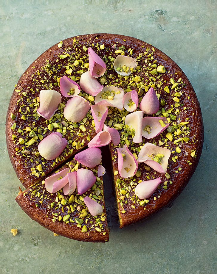 Gluten Free Pear And Pistachio Rose Cake