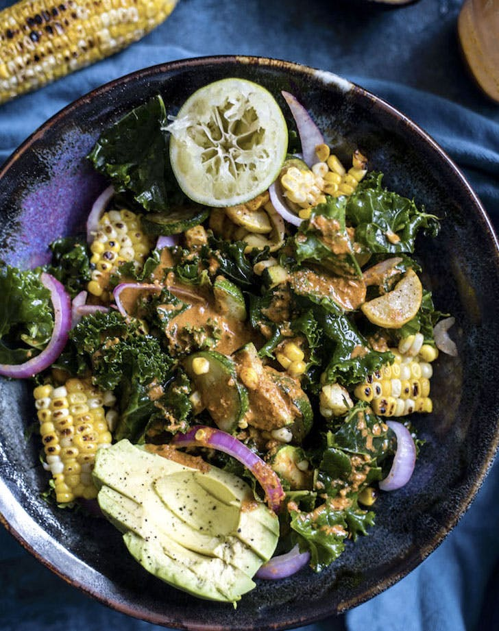 grilled corn kale salad recipe