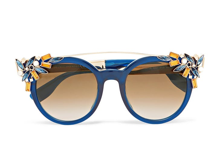 jimmy choo embellished sunglasses