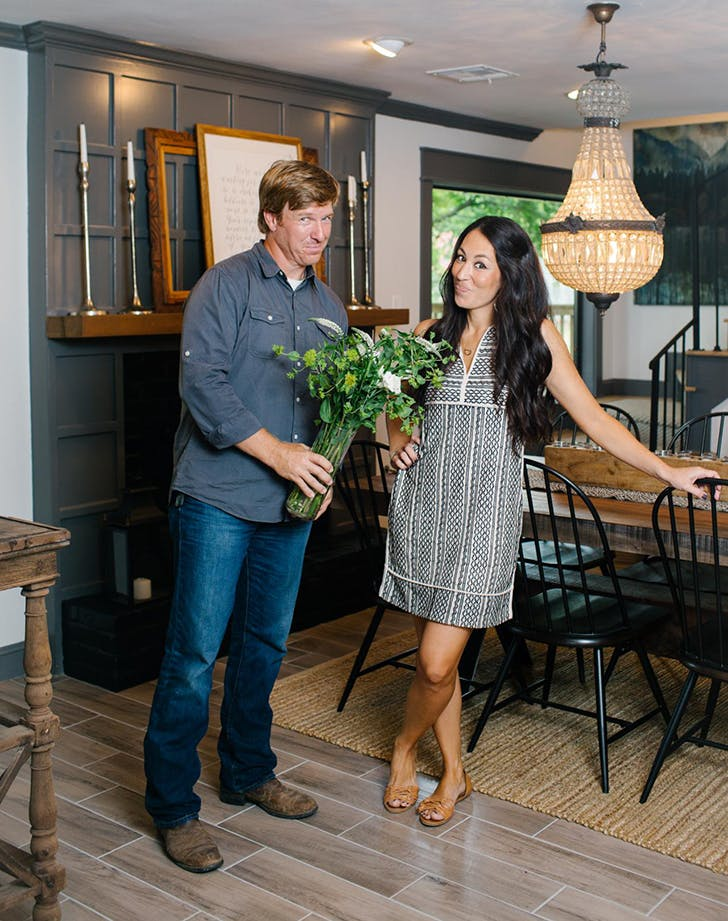 joanna gaines wearing a sundress and sandals