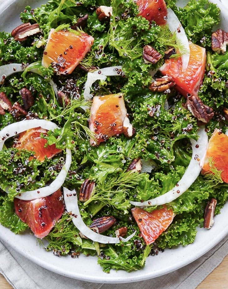 kale blood orange salad recipe