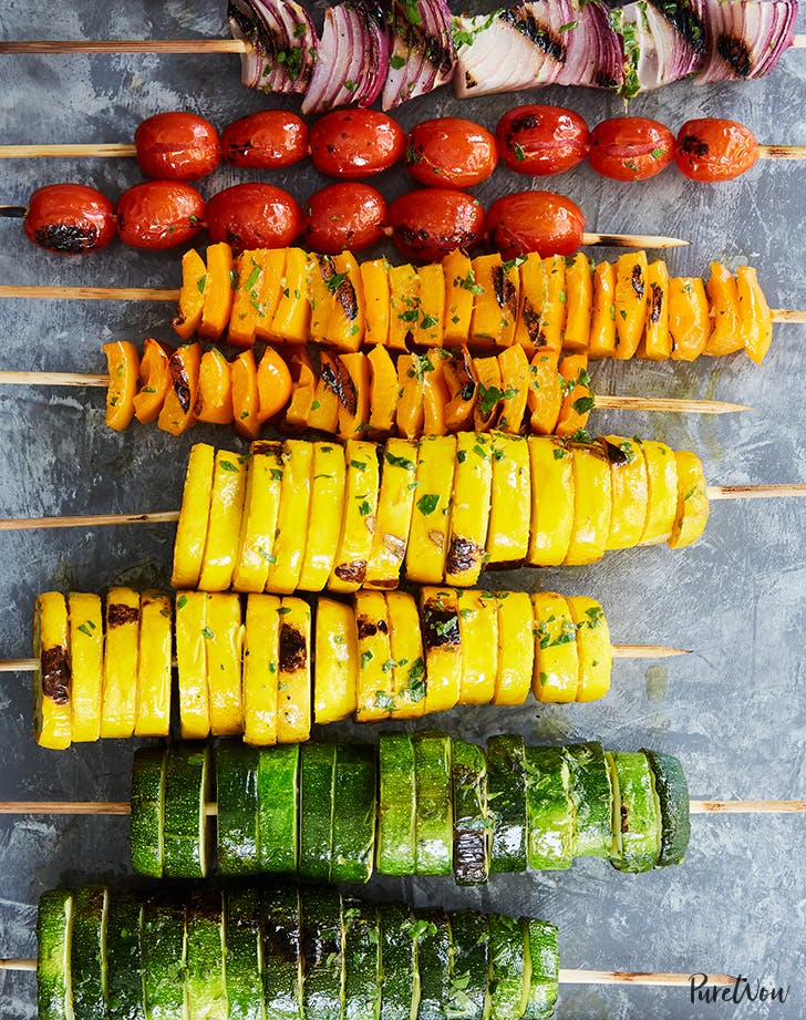 keto rainbow vegetable skewers recipe