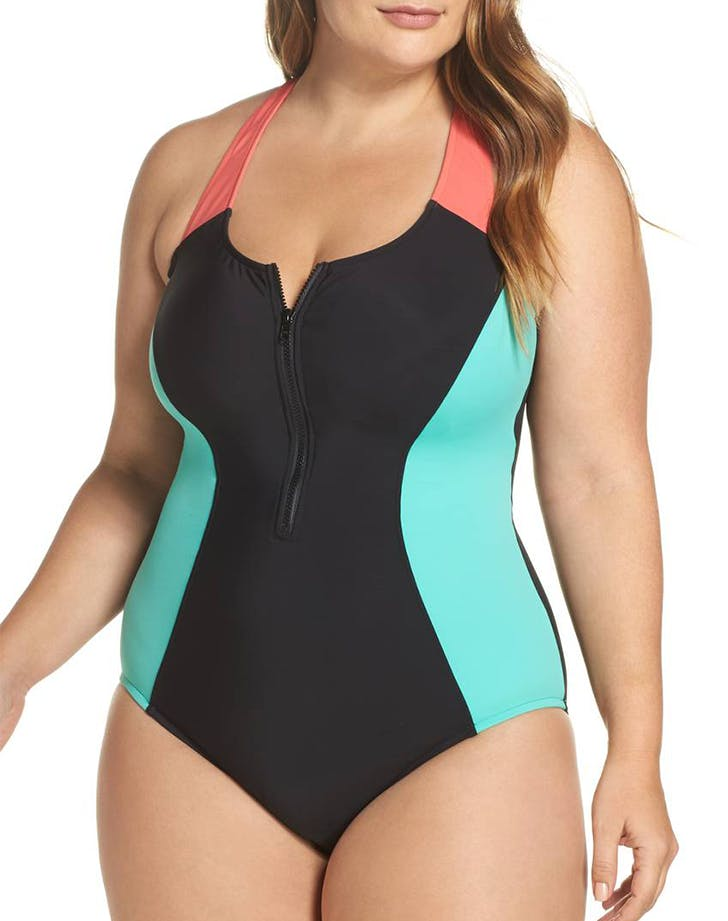 magicsuit sporty 80s inspired swimsuit