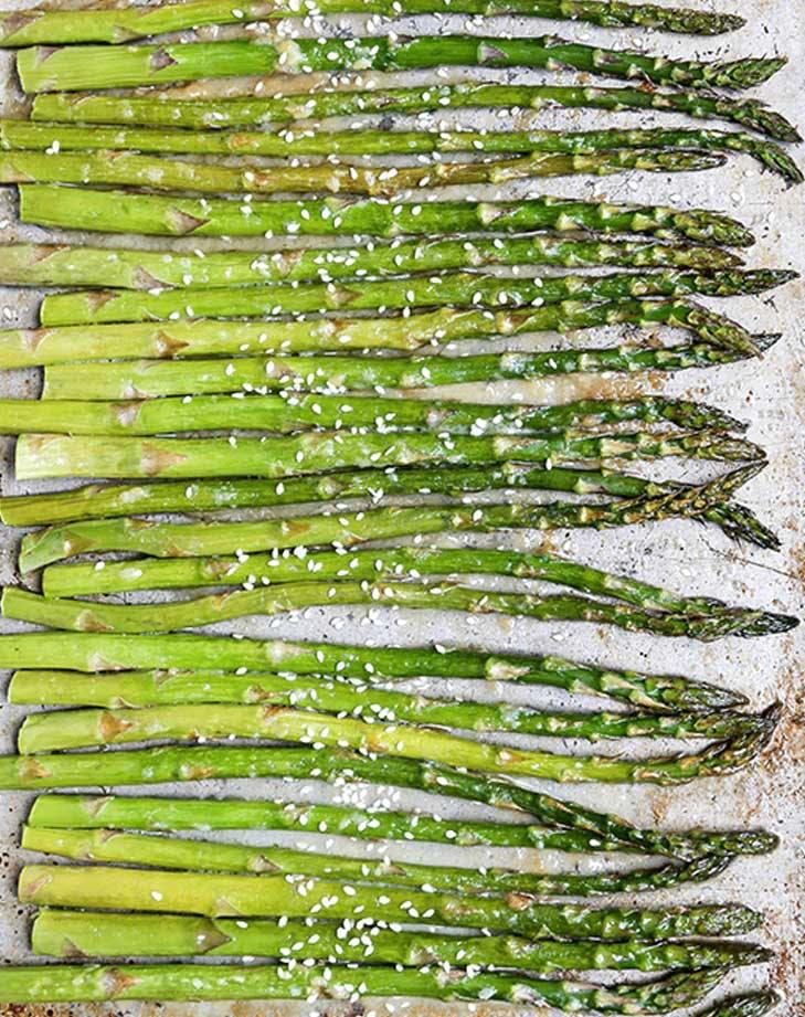 miso roasted asparagus recipe