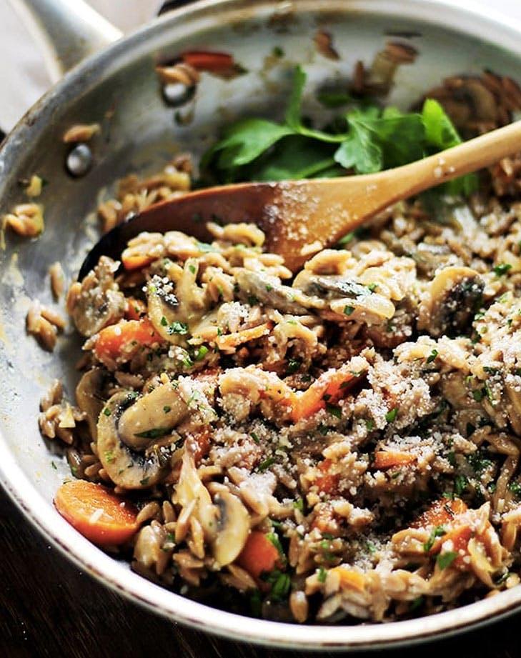 mushroom orzo pilaf recipe