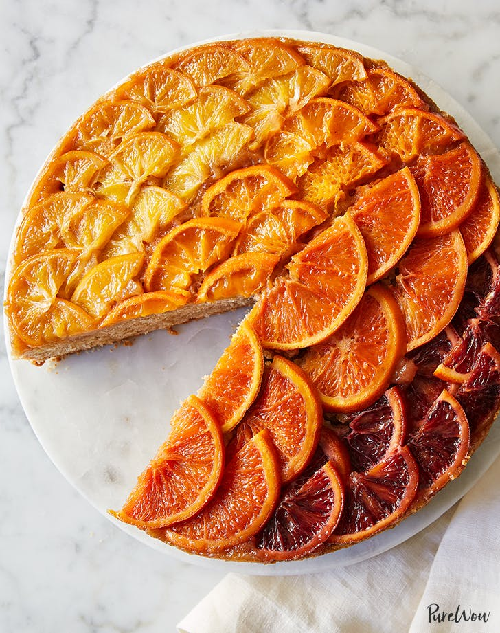 Ombre Citrus Upside-Down Cake