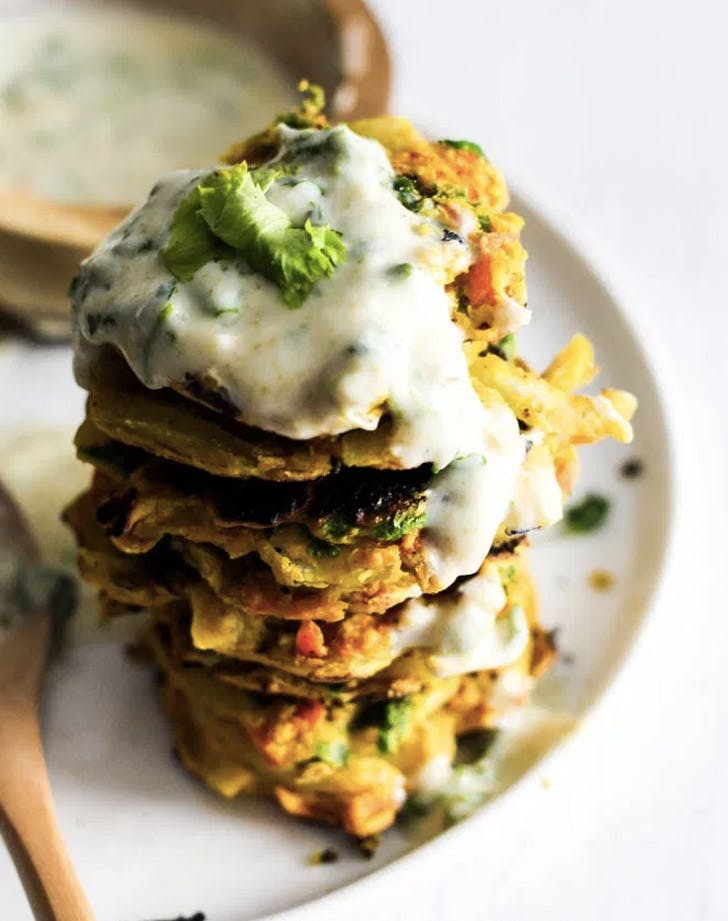 onion carrot fritters recipe