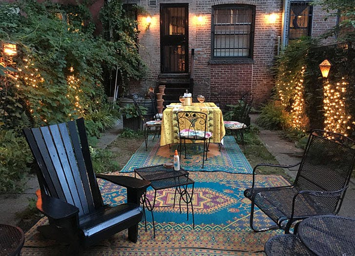 outdoor rugs lights tables chairs