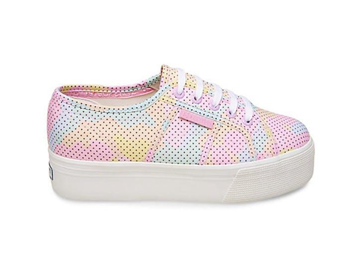 pastel platform sneaker pink