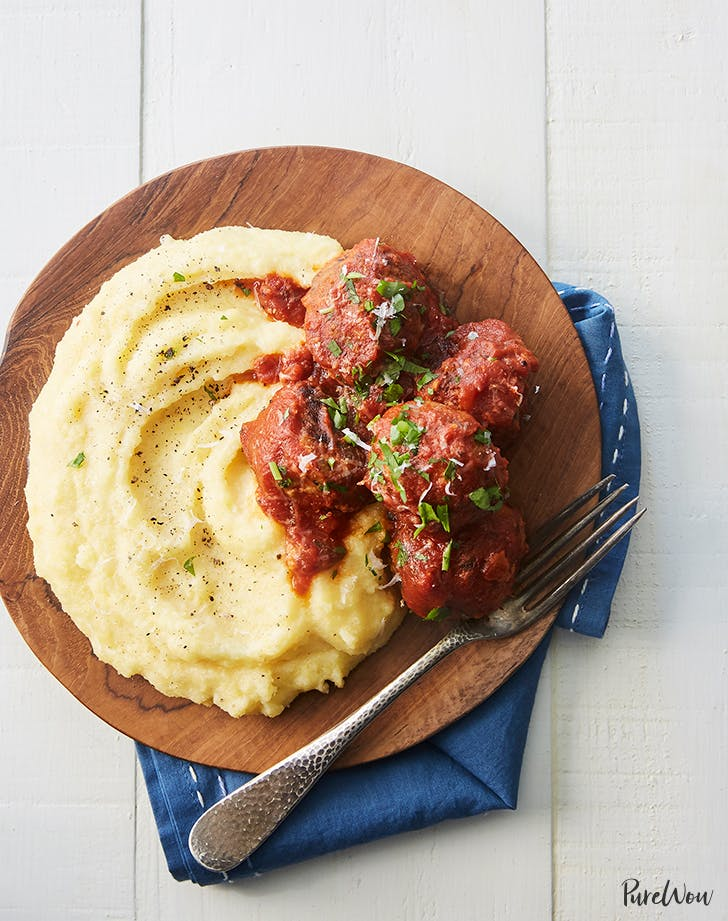 polenta and meatballs recipe
