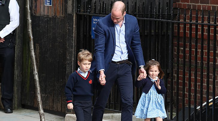 Prince George & Princess Charlotte Just Met Their New Baby Brother