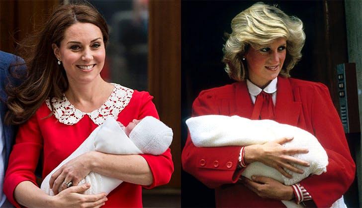 princess diana kate middleton maternity looks 1