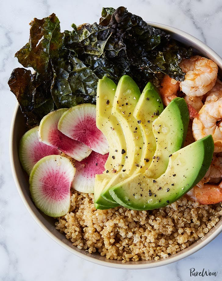 quinoa avocado shrimp bowl recipe