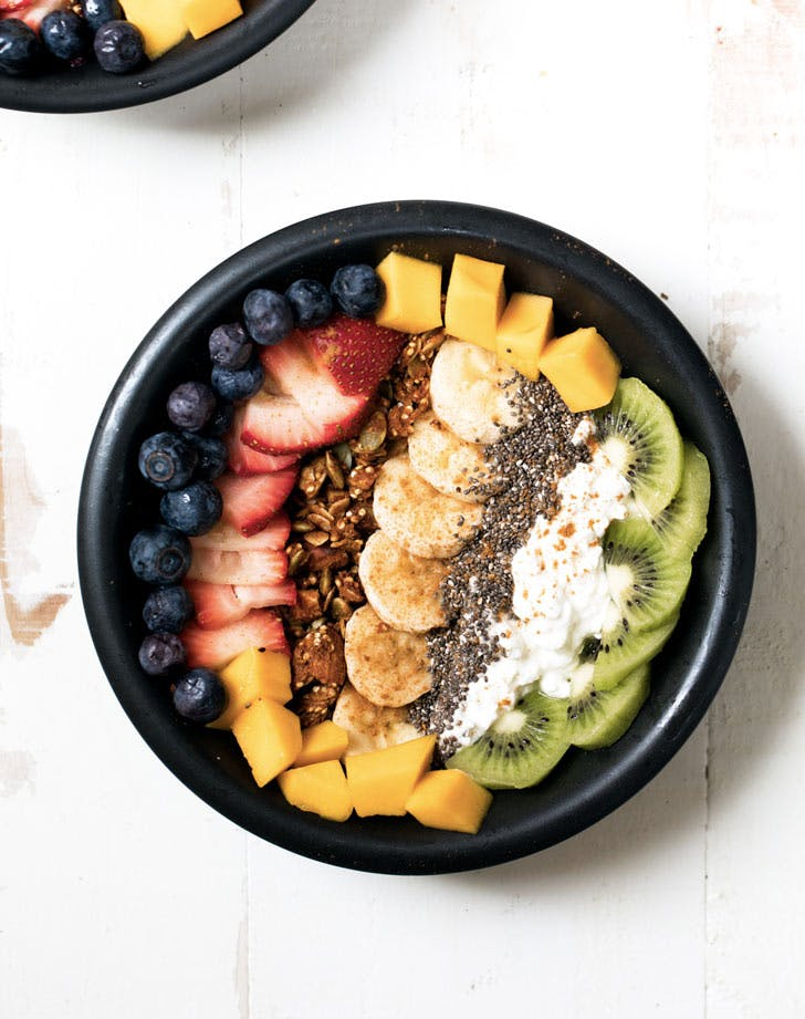 rainbow cottage cheese breakfast bowl recipe