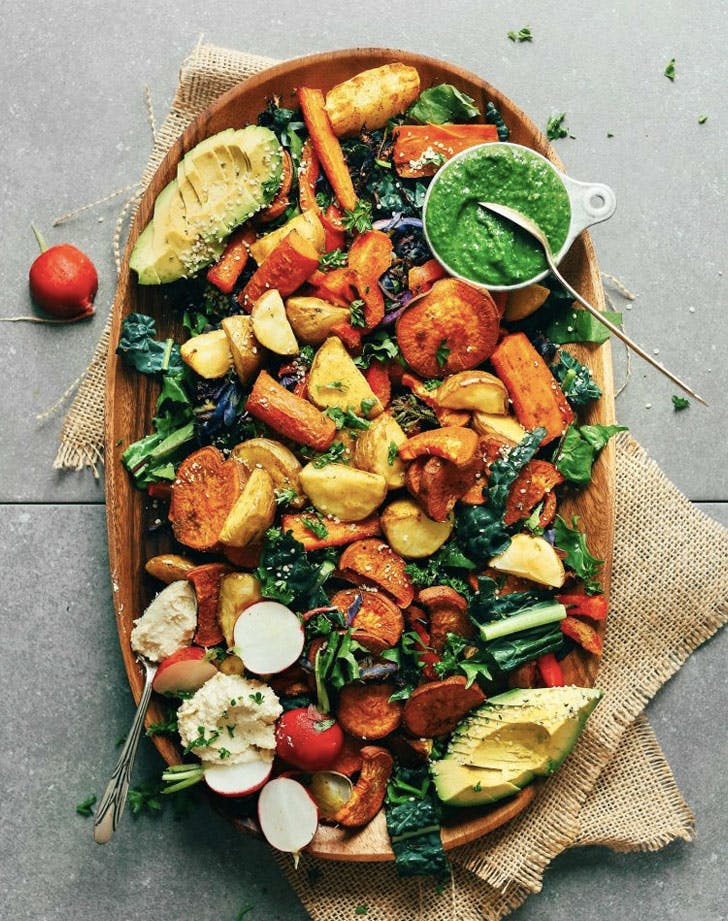 roasted vegetable salad recipe