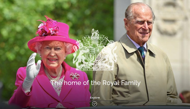 royal family website homepage