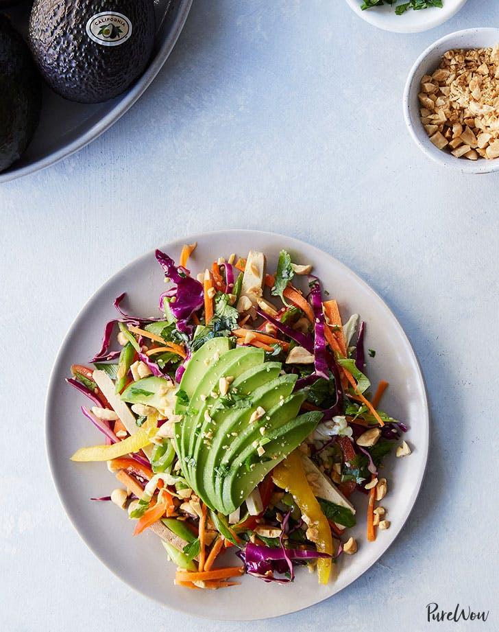 shredded thai avocado salad