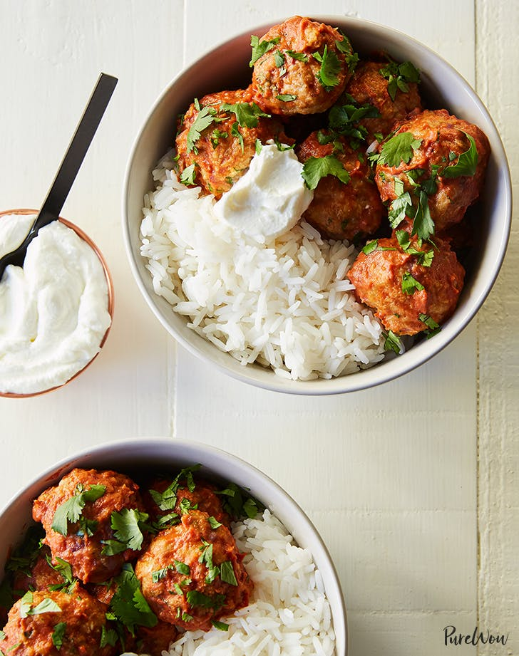 Slow-Cooker Chicken Tikka Masala Meatballs