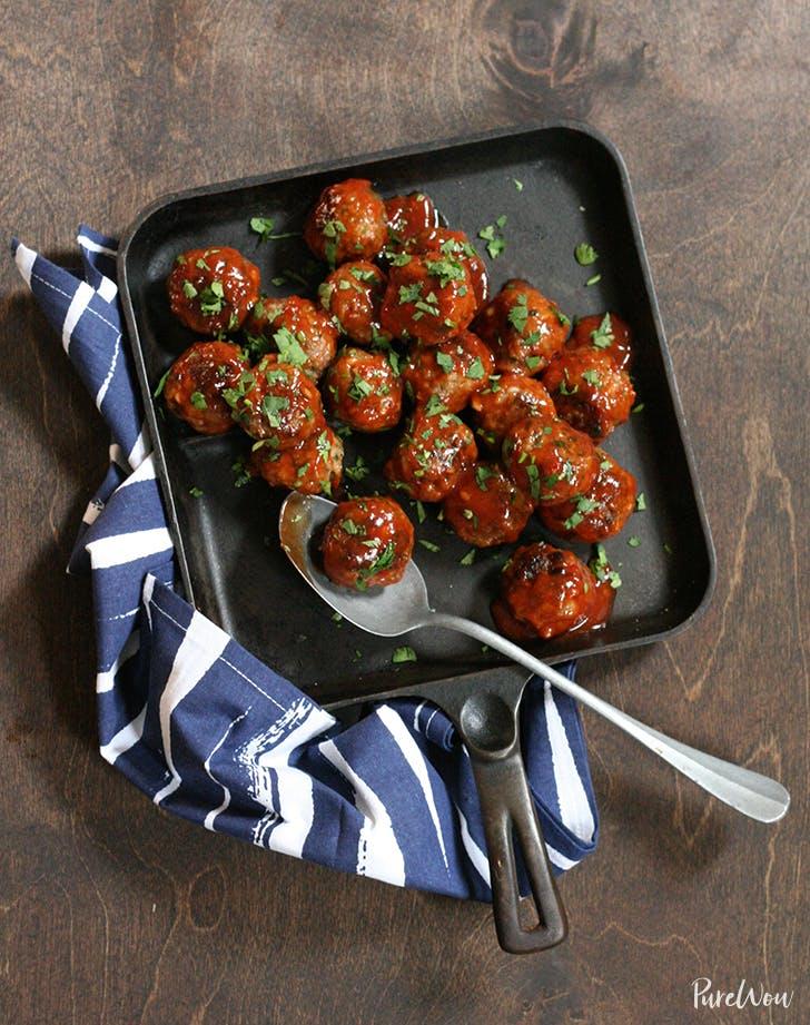 spicy glazed meatballs recipe
