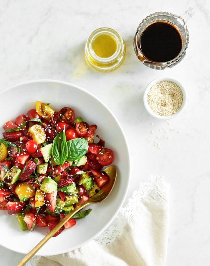 strawberry avocado caprese Salad Recipe