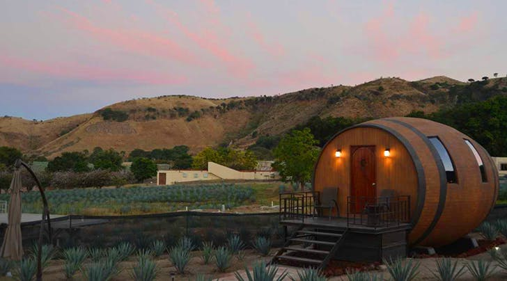 You Can Sleep in an Oversize, Luxury Barrel While You Sip Your Way Through Tequila, Mexico