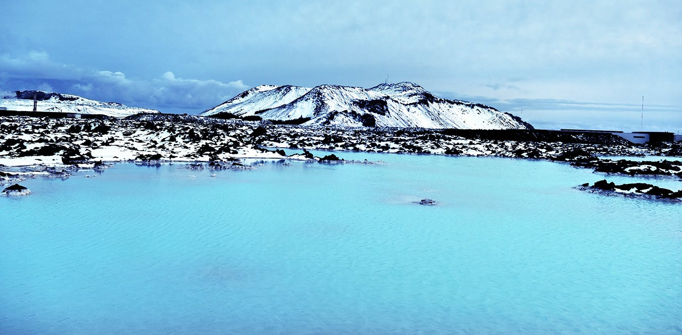 the blue lagoon in Reykjavik  Iceland