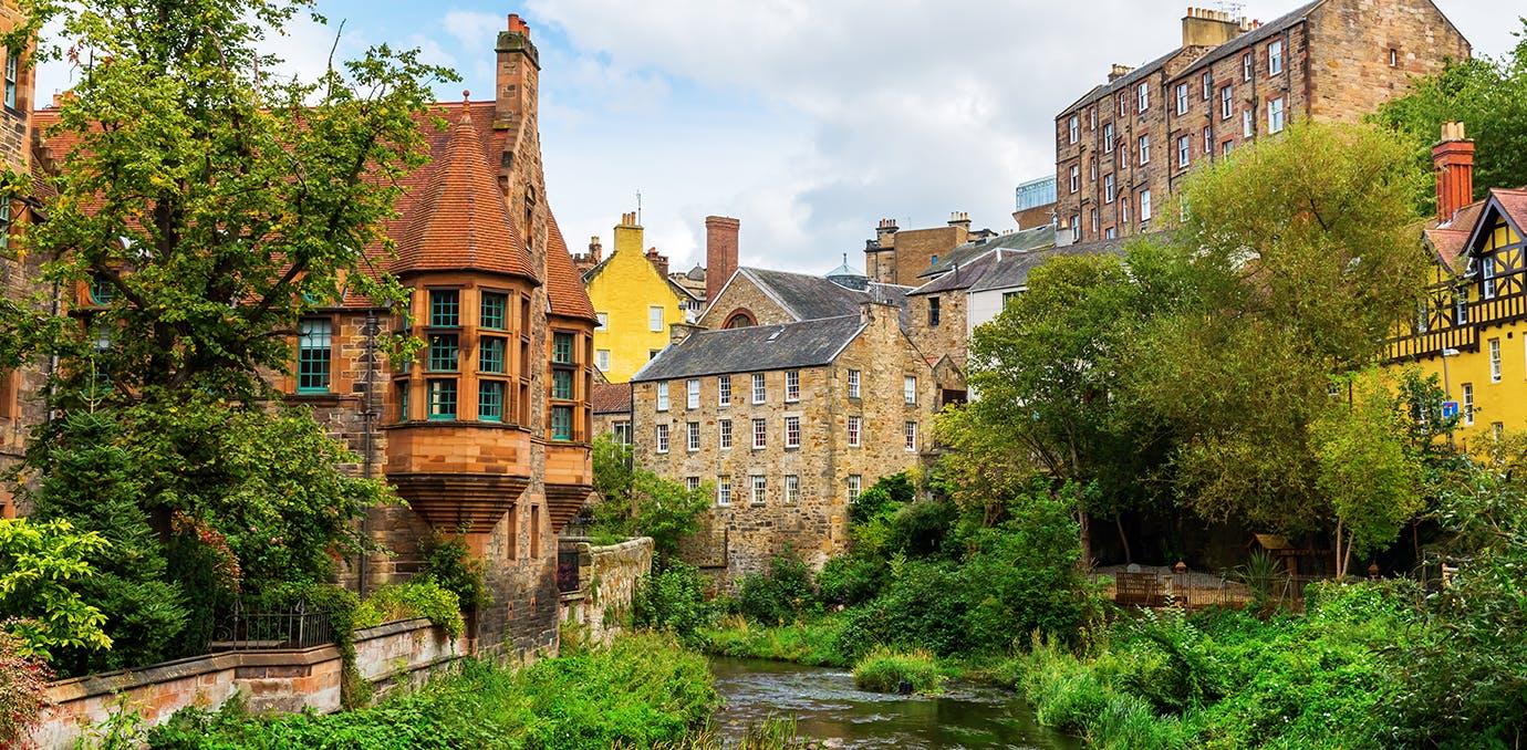 the charming countryside near Edinburgh  Scotland