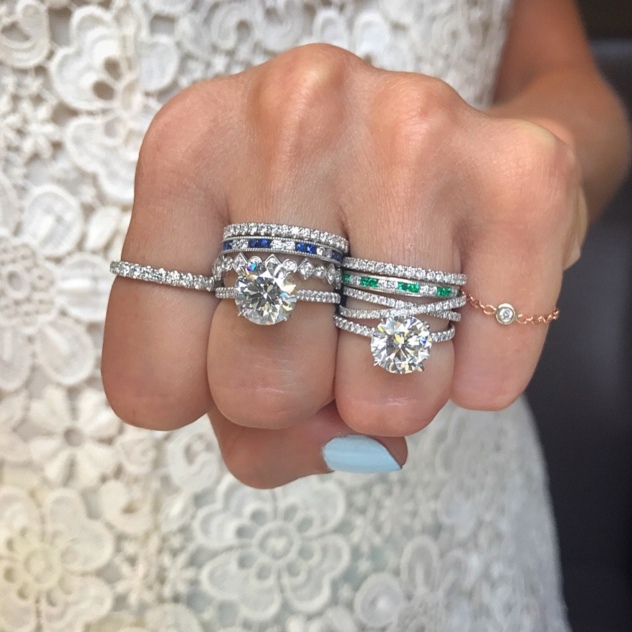 Guessing on the wedding ring. The most popular options
