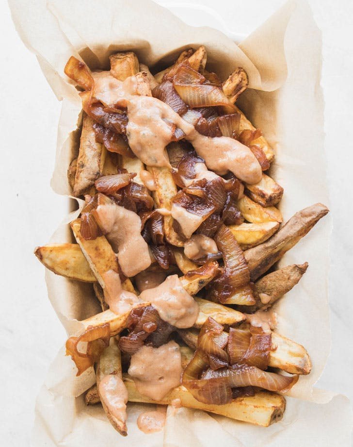 vegan animal style french fries recipe