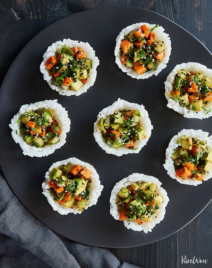 vegan sushi cups recipe