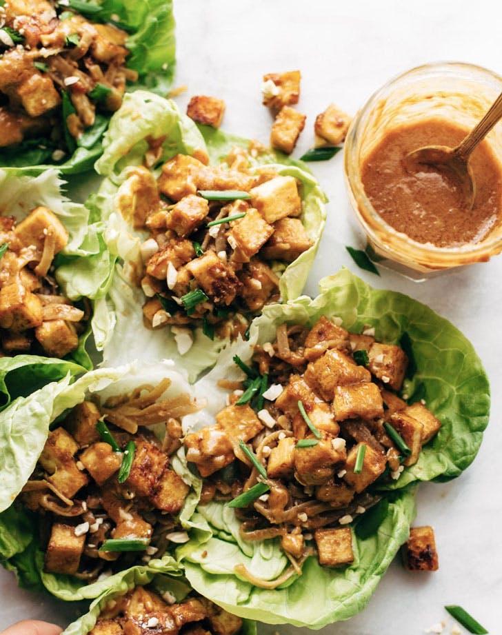 vegan tofu lettuce wraps recipe