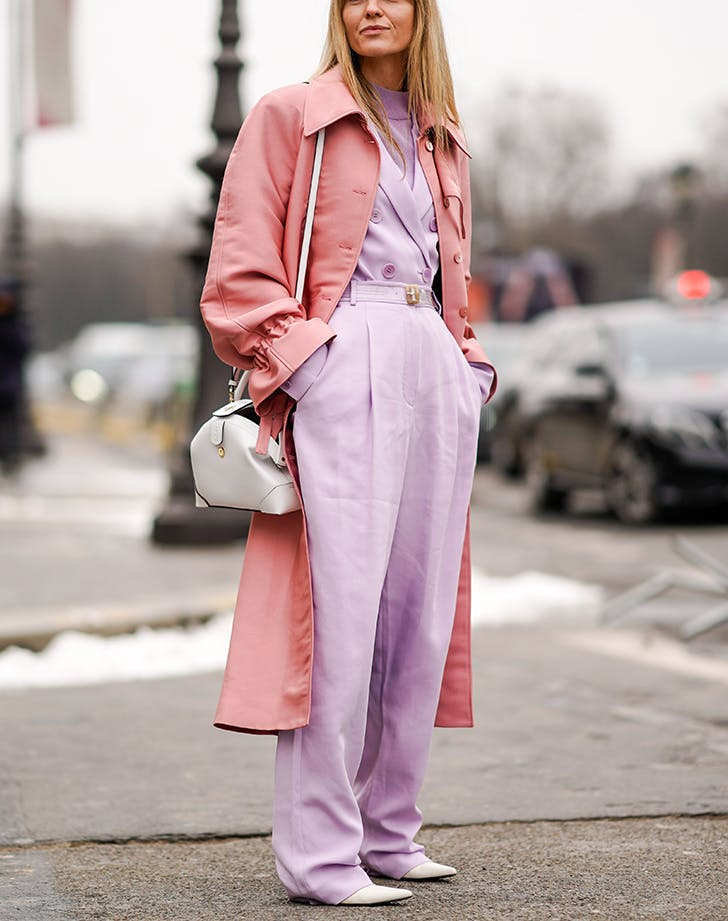 woman wearing light pink and lavender