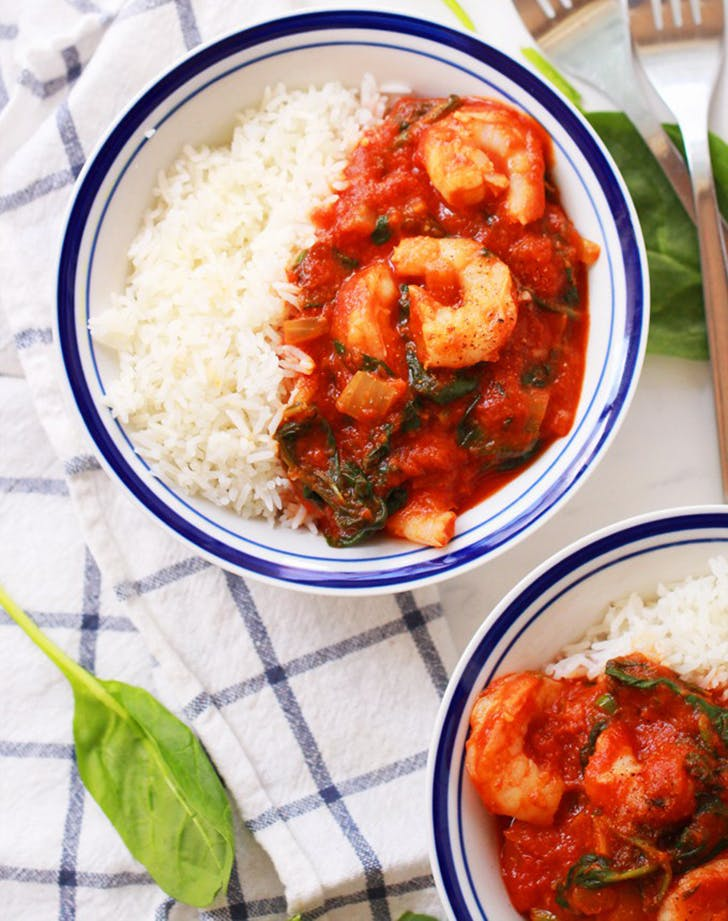 20 minute shrimp and spinach curry recipe