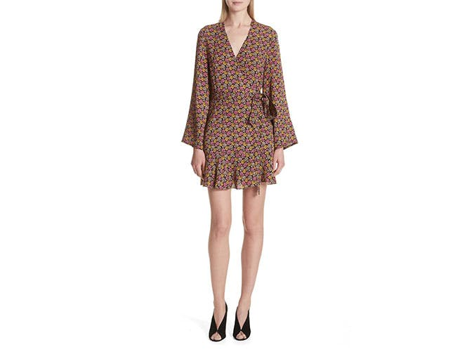 ALC bell sleeve floral dress