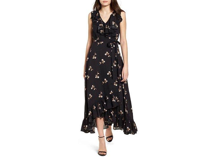 BP floral wrap dress