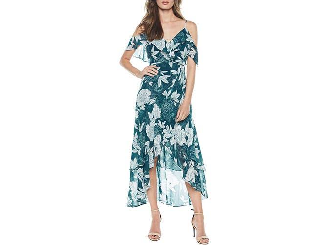 Bardot beachy maxi dress