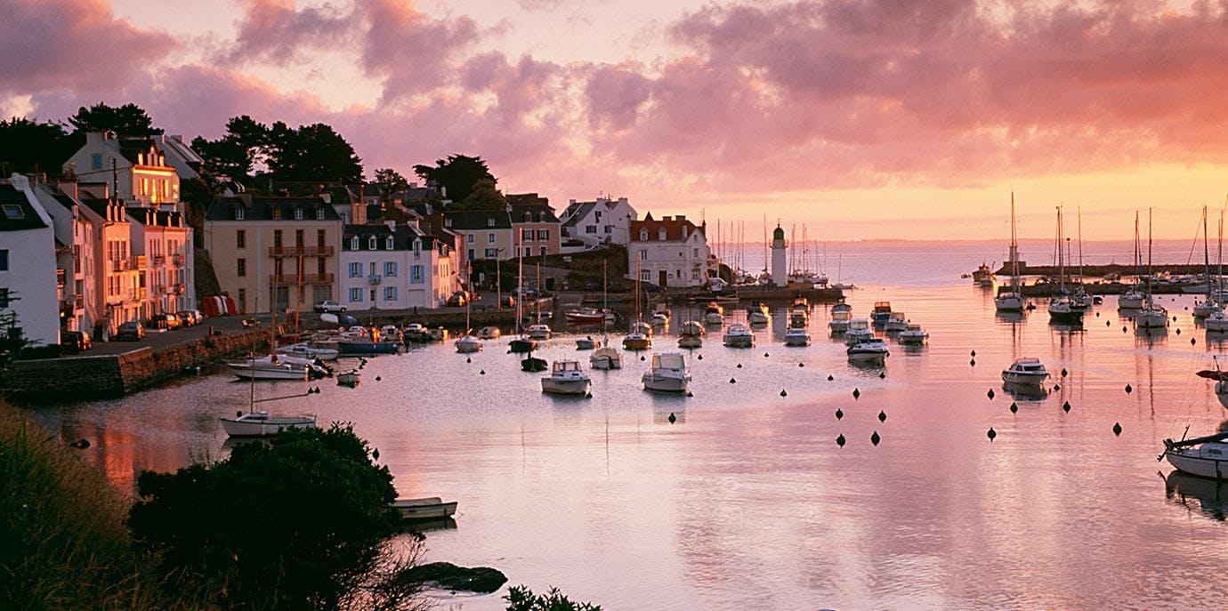 Belle Ile en Mer French island at sunset