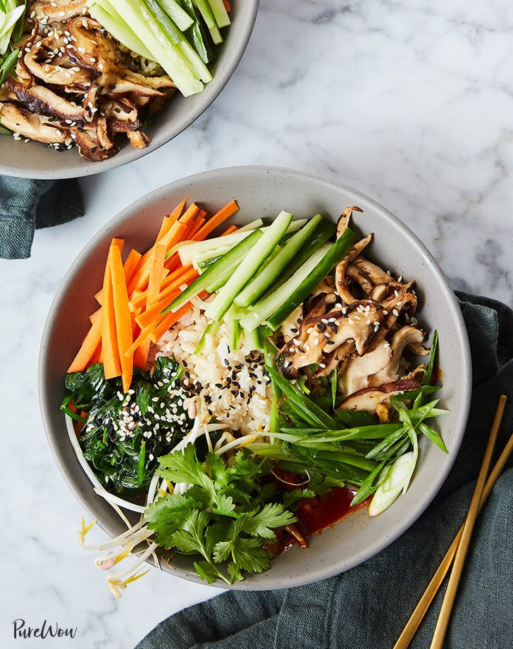 Clean Eating Bibimbap Bowls recipe