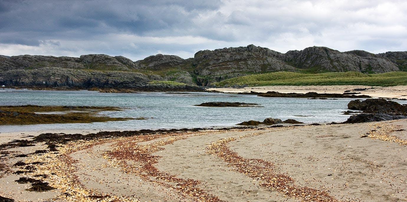 Colonsay island in Scotland