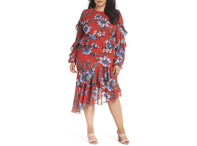 Cooper St red floral dress