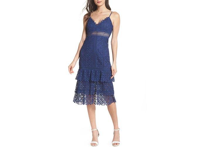 Ever New Katie blue lace midi