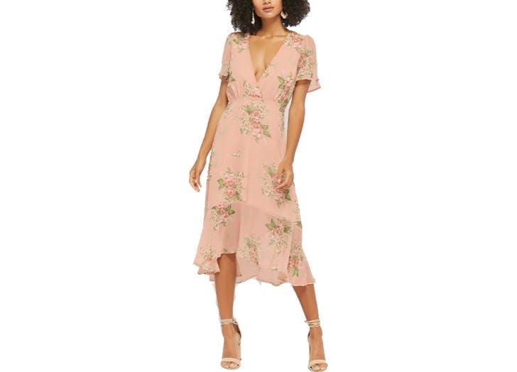 Forever21 pink midi dress