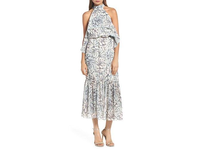 Foxiedox pom pom midi dress