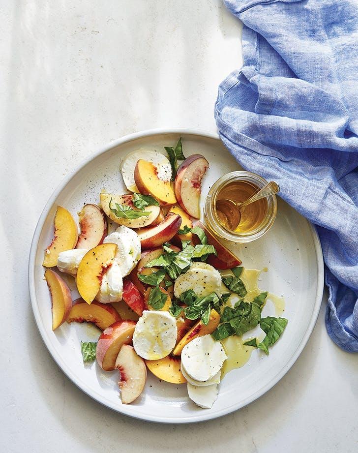 Joanna Gaines peach caprese salad recipe