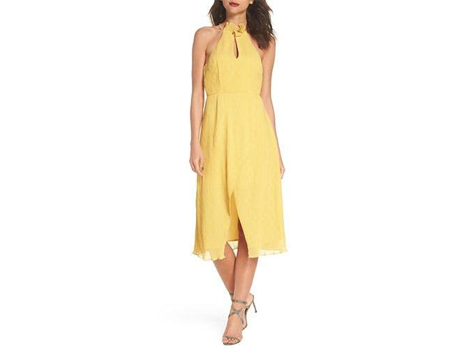 Keepsake yellow midi dress